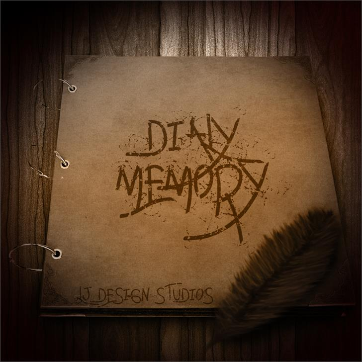 Daily memory font by LJ Design Studios