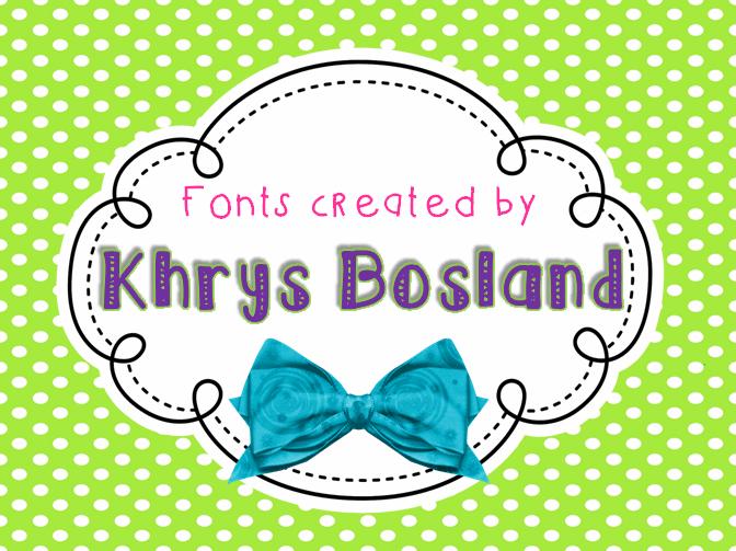 KBSticktoIt font by KhrysKreations