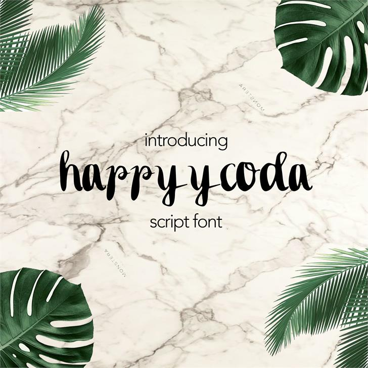 happyycoda font by septya anggraeni