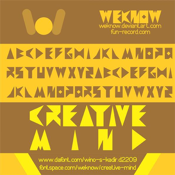 creative mind font by weknow