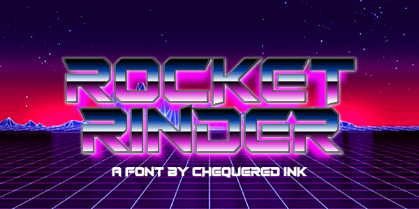 Rocket Rinder font by Chequered Ink