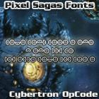 Cybertron OpCode font by Pixel Sagas