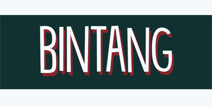 DK Bintang font by David Kerkhoff