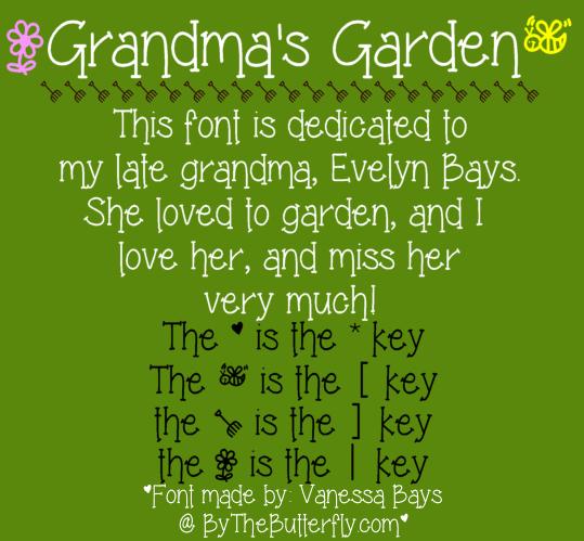 Grandma's Garden font by ByTheButterfly