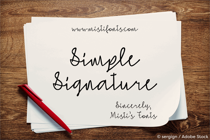 Simple Signature font by Misti's Fonts