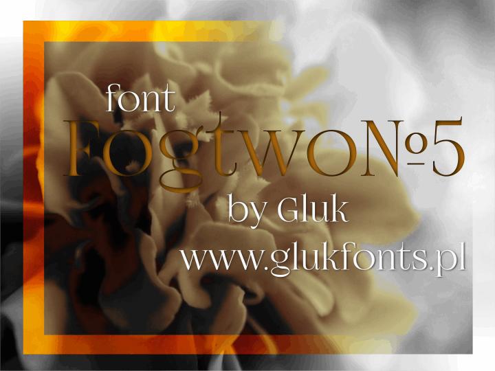 FogtwoNo5 font by gluk