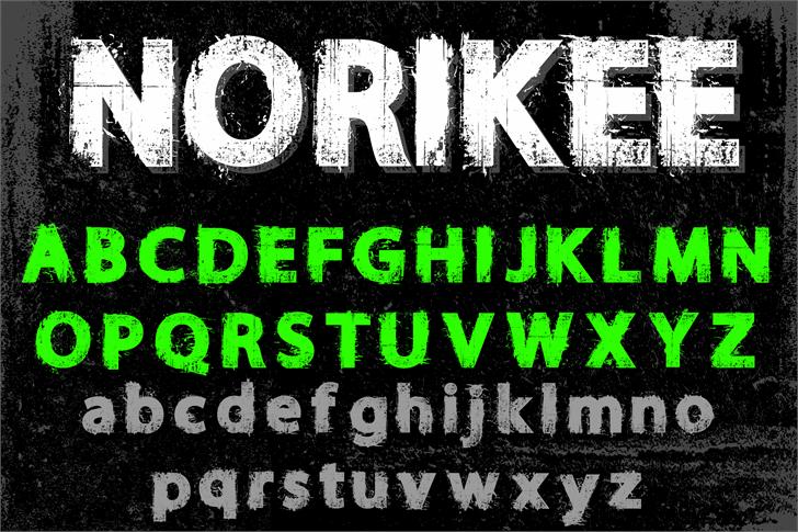 NORIKEE DEMO font by knackpackstudio