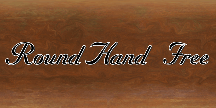 RoundHand Free font by Intellecta Design