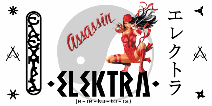 ELEKTRA ASSASSIN font by SpideRaYsfoNtS