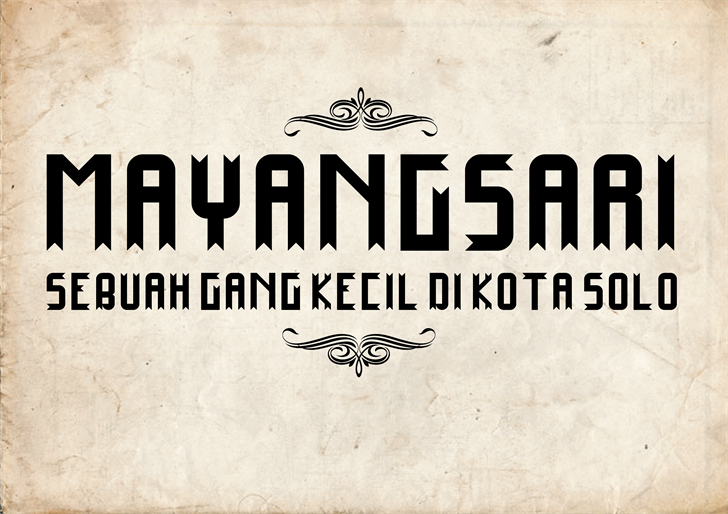 Mayangsari font by Murizar