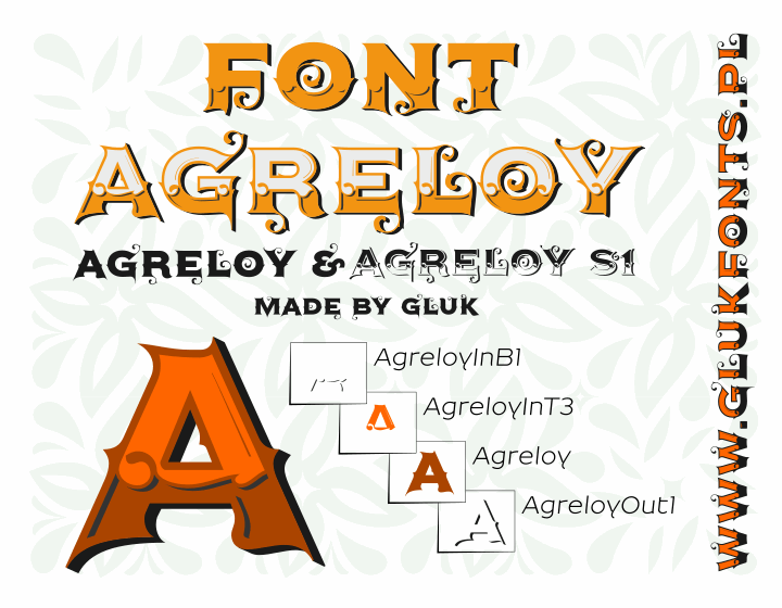 Agreloy font by gluk