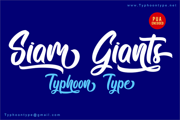 Siam Giants - Personal Use font by Typhoon Type - Suthi Srisopha