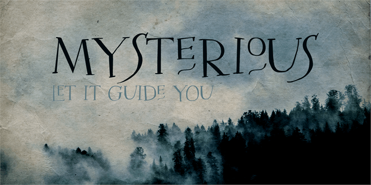 DK Mysterious font by David Kerkhoff
