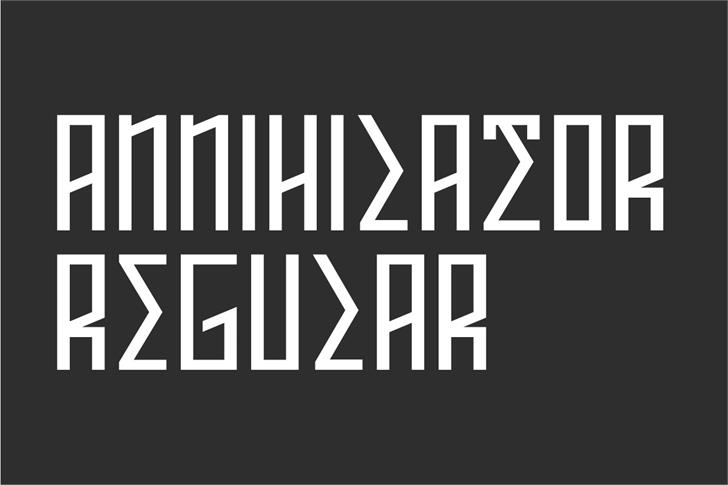 ANNIHILATOR Demo font by Out Of Step Font Company