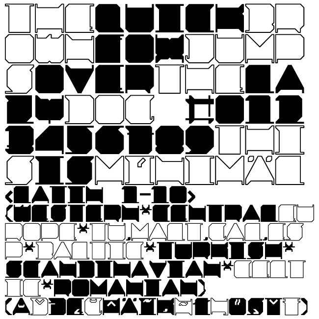 MINIMAL x font by pistocasero
