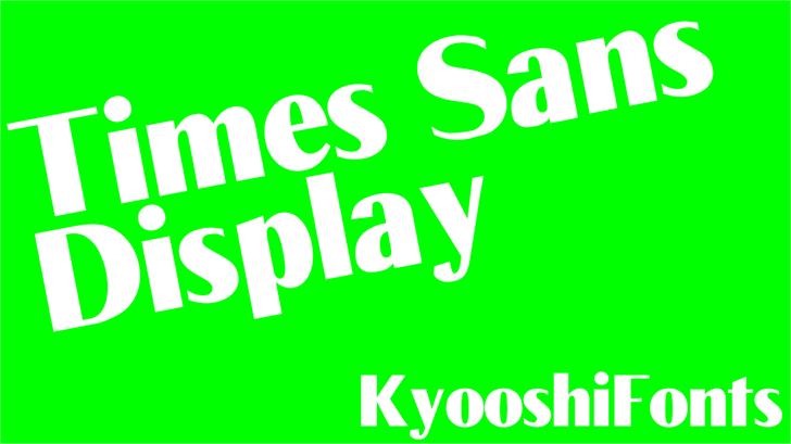 Times Sans font by KyooshiFonts