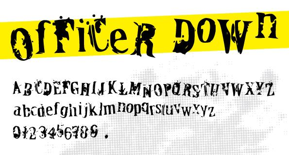 OfFiCeR DoWn font by Davy Meykens