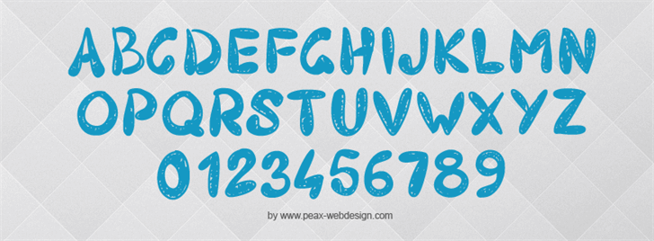 PW403 font by Peax Webdesign