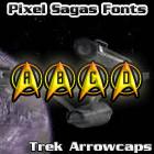 Trek Arrowcaps font by Pixel Sagas