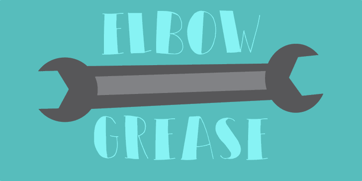 DK Elbow Grease font by David Kerkhoff