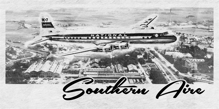 Southern Aire Personal Use Only font by Måns Grebäck