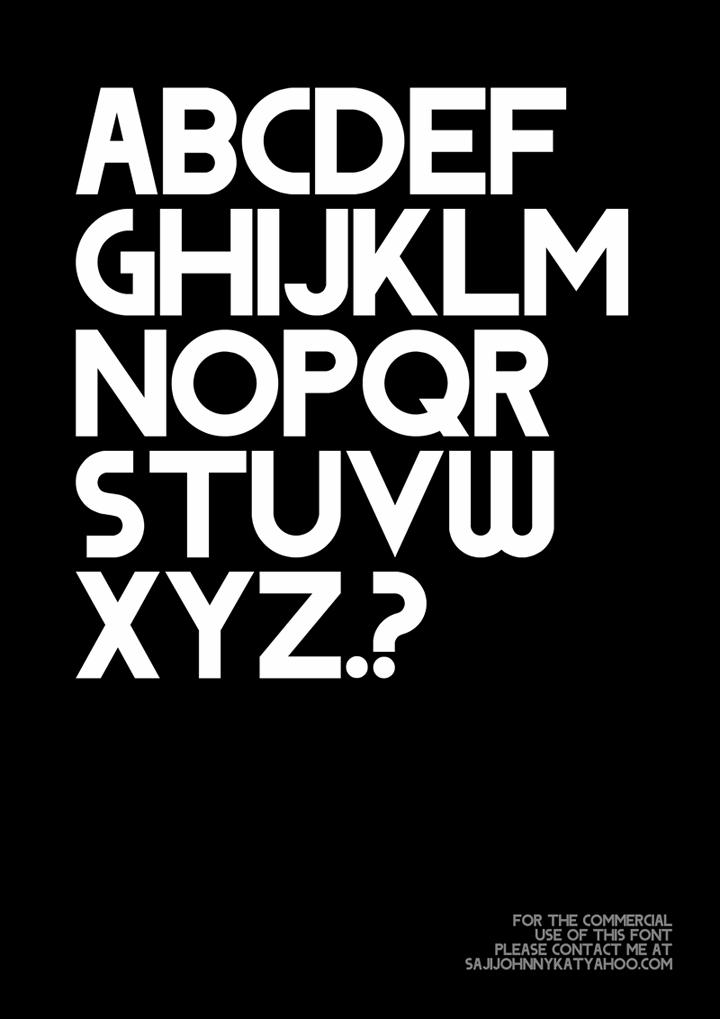 DODGE font by SAJI JOHNNY KUNDUKULAM