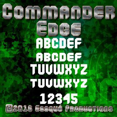 Commander Edge font by Essqué Productions