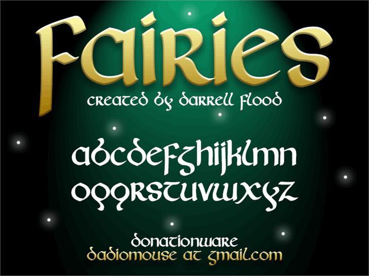 Fairies font by Darrell Flood