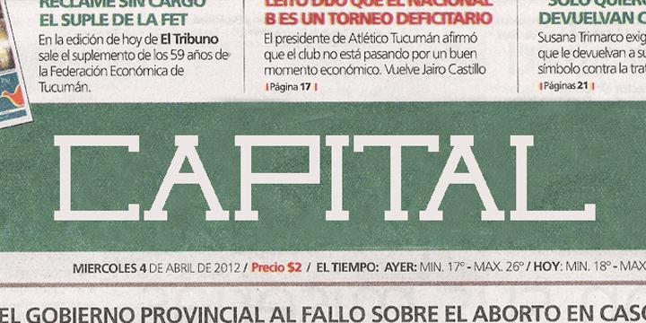 Capital regular font by Qbotype Fonts