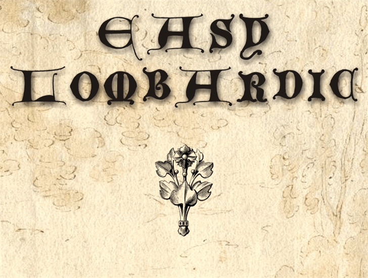 EasyLombardic font by Intellecta Design