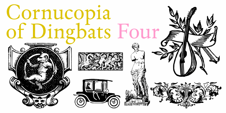 Cornucopia of Dingbats Four font by Intellecta Design