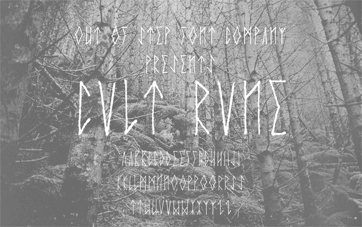 Cvlt Rvne Regular Demo font by Out Of Step Font Company