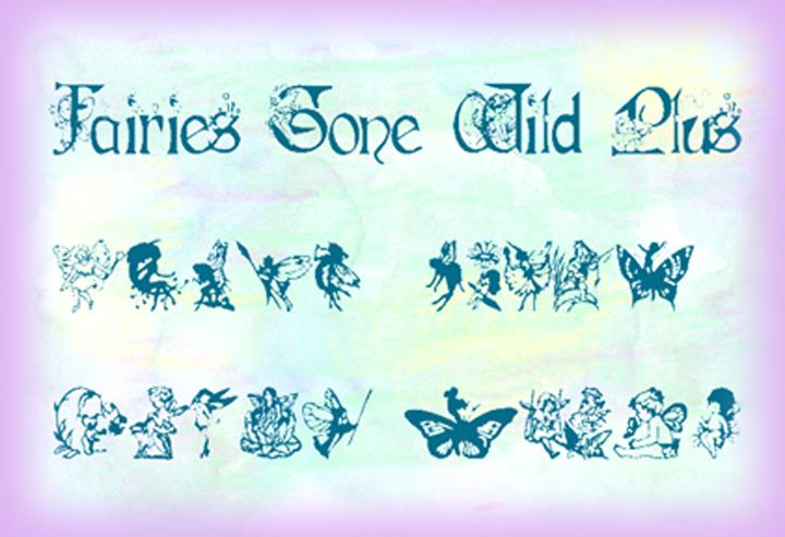 Fairies Gone Wild Plus font by Art Designs by Sue