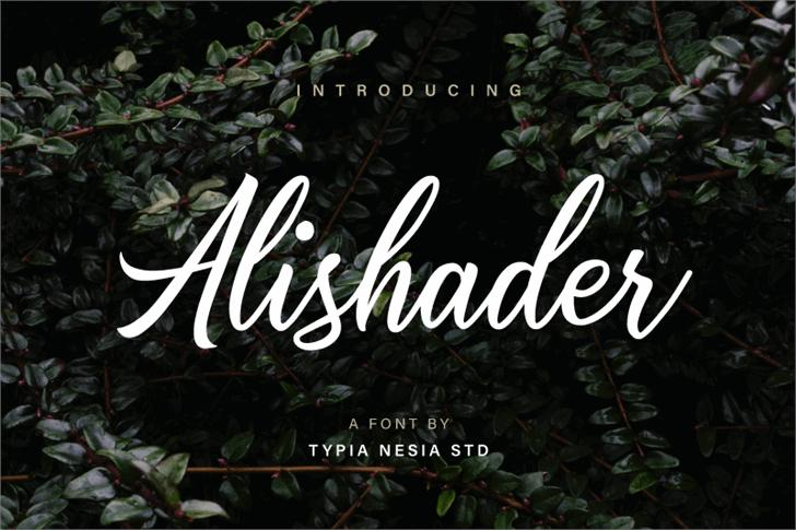 Alishader Demo font by Typia Nesia