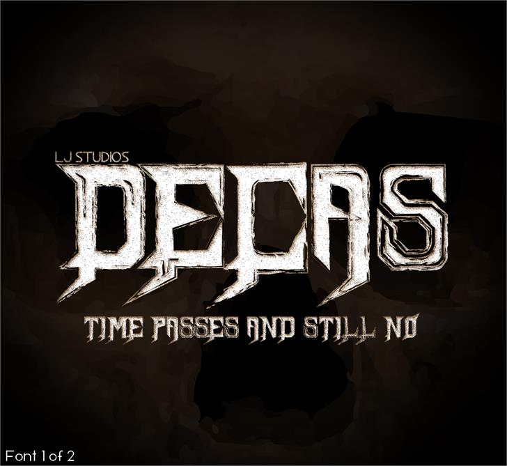Decas font by LJ Design Studios