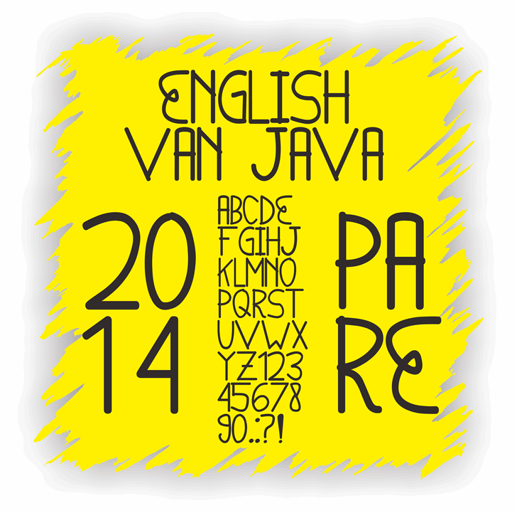 English van Java font by Murizar
