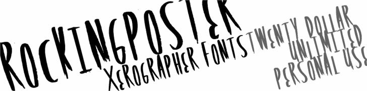 RockingPoster font by Xerographer Fonts