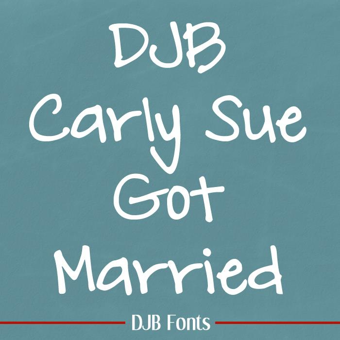 DJB Carly Sue Got Married font by Darcy Baldwin Fonts
