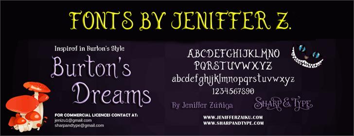 Burton's Dreams Pro font by JenZdesign