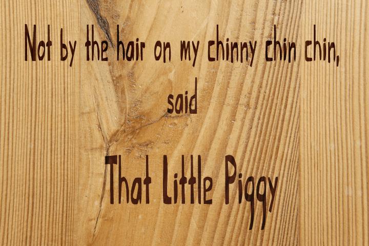 That Little Piggy font by David Kerkhoff