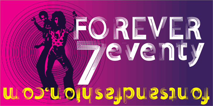 FOREVER 7entin demo font by Fontsandfashion
