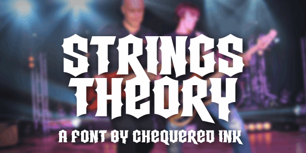 Strings Theory font by Chequered Ink