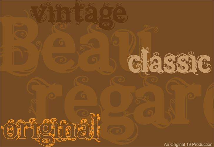 Beauregard font by The Original 19