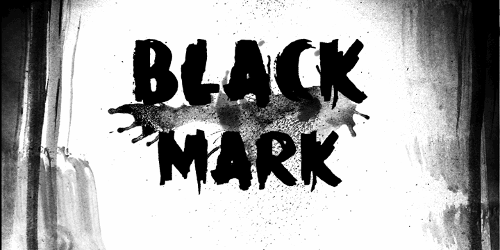 DK Black Mark font by David Kerkhoff