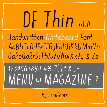 DF Thin font by DemiFonts