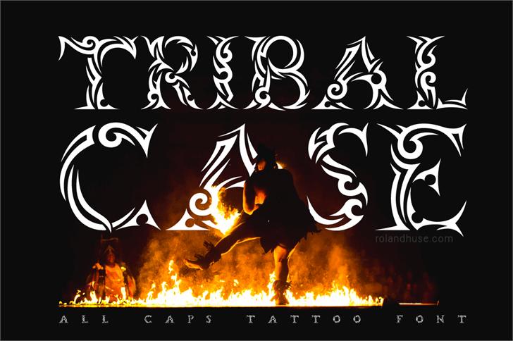 Tribalcase font by Roland Huse Design