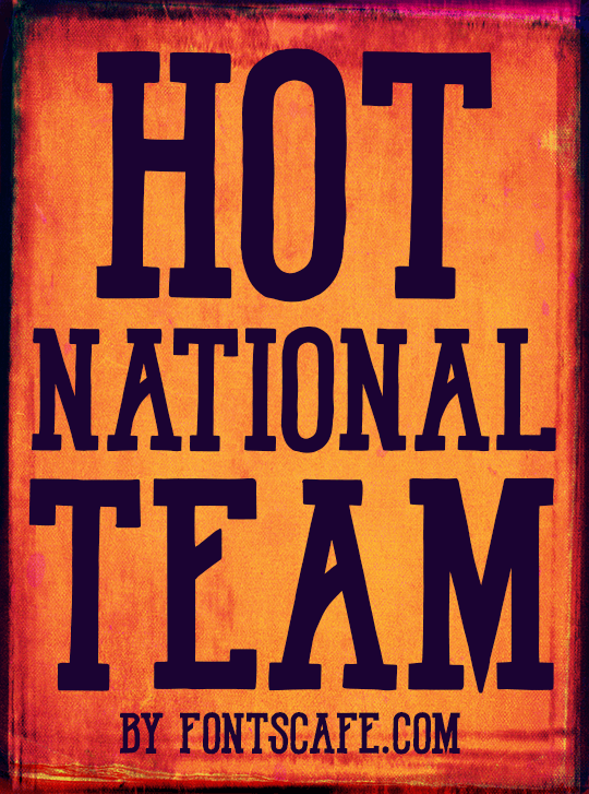 Hot National Team DEMO font by FontsCafe