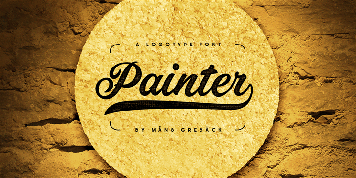 Painter PERSONAL USE ONLY font by Måns Grebäck