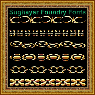 Vintage Borders_07 font by Sughayer Foundry