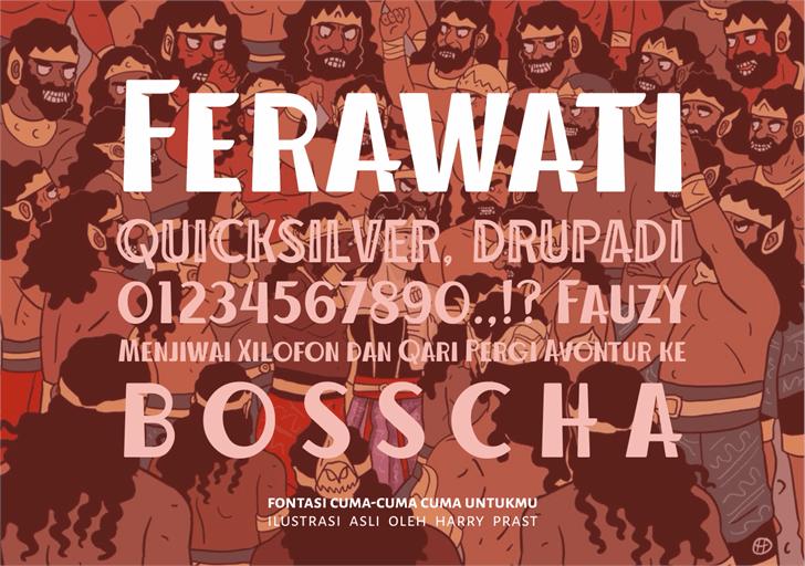Ferawati font by Gunarta